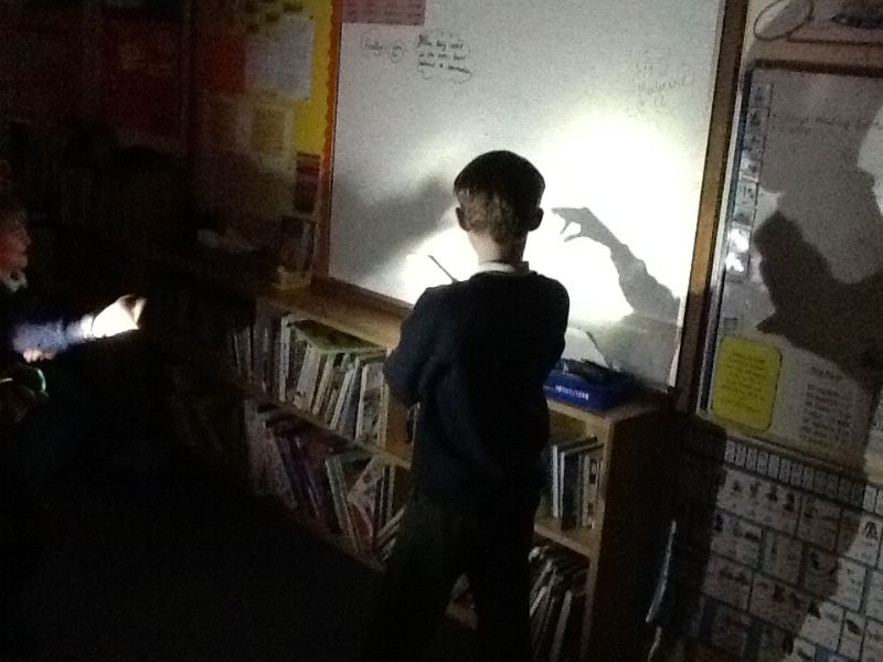 Making shadows of animals using our hands